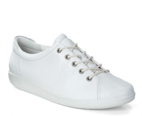 ECCO Ladies Shoes Soft 2 White Feather